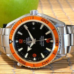 Omega Seamaster Planet Ocean 600M Orange 45 Full Set 2208.50